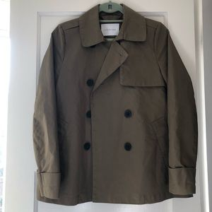 Everlane swing trench in olive, size small